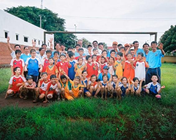 KNVB World Coach Dak Lak Vietnam With  Medisch Comité Nederland-Vietnam